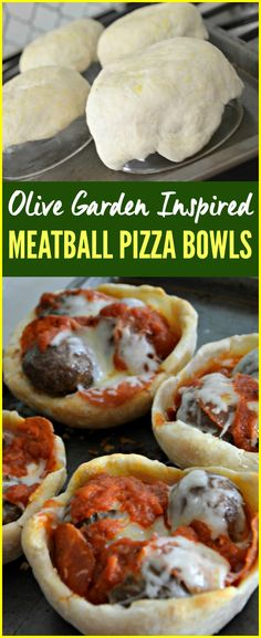 Frugal Food Items - How To Prepare Dinner And Luxuriate In Delightful Meals Without Having Shelling Out A Fortune Diy Copycat Olive Garden Meatball Pizza Bowl Recipe Pizza Bowl, New Recipes, Cooking Recipes, Favorite Recipes, Pizza Recipes, Chicken Recipes, Italian Recipes, Meatball Pizza, Meatball Recipes