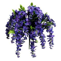 AdmiredbyNature 15 Stems Wisterria Long Hanging Flower Bush Color: Purple