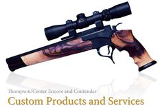 Stratton Custom Thompson/Center Encore and Contender - Factory Rifle Forends, Hanger bars, Frames, engraving, Scope Bases and Weapons Guns, Guns And Ammo, Revolver Pistol, Revolvers, Gun Holster, Holsters, Thompson Contender, Thompson Center, Hunting Rifles