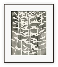 Plant Pattern 2 size: 8x10 or 11x14 Print of an original watercolor painting. Fine art archival print on heavy 235 gsm acid free matte art paper,