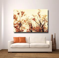 entire layout of home with orange walls | home decor canvas art popular items for orange wall art on etsy image ...