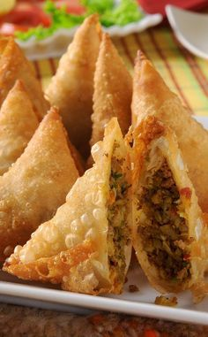 Beef Samosas with Ground Beef, Potatoes & Peas Recipe More