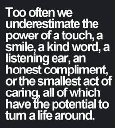 Sometimes, this is all it takes to make a huge difference.   #DrLaura