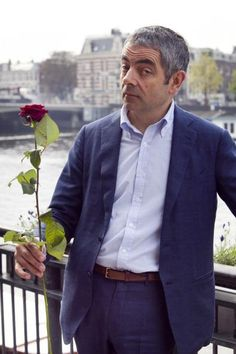 Rowan Atkinson poses during a photocall to promote Johnny English Reborn at Amstel Hotel in Amsterdam, Netherlands on 3 October 2011 (Photo by Helene Wiesenhaan/WireImage) Johnny English Reborn, Excited Face, Mr Bean, Thin Blue Lines, Rowan, Persona, Fangirl, 3 October, Fashion Photography