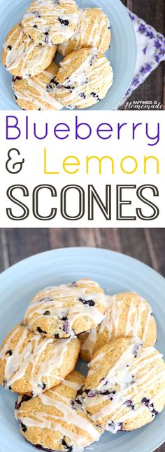 The Best Blueberry Lemon Scone Recipe Ever + garden-to-table gardening tips! #GilmourGardens #GimourGardening [ad]