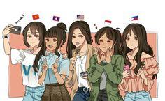 Hetalia Philippines, Filipino Culture, Hetalia Funny, Hetalia Axis Powers, Country Art, Anime Art Girl, Cute Art, Cool Drawings, Illustrations