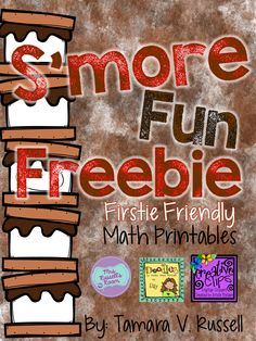 Math freebie: Printables with a s'mores theme. Appropriate for firsties Preschool Camping Activities, Camping Crafts For Kids, Writing Activities, Camping Books, Camping Theme, Kindergarten Themes, Classroom Themes, Summer School Themes, Christmas Writing