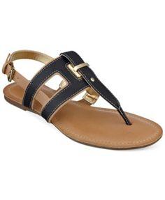 Tommy Hilfiger Women's Lynnie Flat Thong Sandals | macys.com