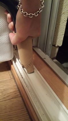 Insert the vacuum end into a toilet paper roll and squeeze tight so that it gets those hard to reach places.