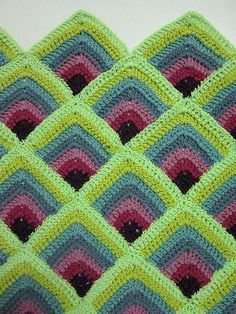 yarn over - corinascorner: I love the way these squares were...