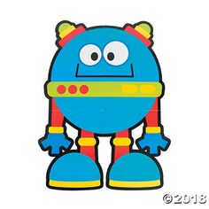 Create a fun and friendly atmosphere for students with these robot classroom decorations! They're a great way to bring color and whimsy into your learning . Robot Classroom, Sunday School Classroom, Classroom Themes, Robot Bulletin Boards, Robot Clipart, Monster Clipart, Clipart Boy, Maker Fun Factory Vbs, Robots Drawing