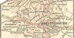Early map of jozi Africa Map, South Africa, Story People, Pretoria, Historical Maps, African History, Cartography, Architectural Sketches, Cityscapes