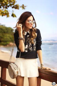 FashionCoolture - 24.07.2015 look du jour Gap juper navy blue and white (4)