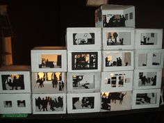 Cardboard City by dualcoremusic, via Flickr  Shadow boxes = love