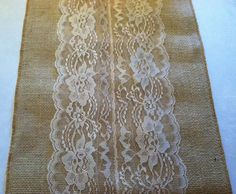 Burlap & Lace Table Runner with a Variety of by RubyDesignDecor, $12.00