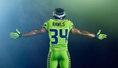 Images created for the Seattle Seahawks, NFL, and Nike's release for the Color Rush uniforms. Seahawks Color Rush, Nfl Football, Football Helmets, Color Rush Uniforms, Kobe Bryant 8, Seattle Seahawks, Branding, Photoshoot, Behance