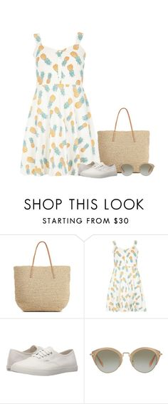 """""""Pineapples"""" by blueeyed-dreamer ❤ liked on Polyvore featuring Target, Dorothy Perkins, Vans, Miu Miu, Summer, contest, dress and outfitonly"""