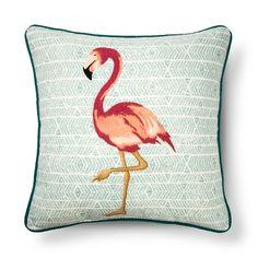 Flamingo Square Throw Pillow - Multi-Colored : Target
