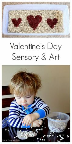 Valentine's Day Sensory Play and Toddler Art from Fun at Home with Kids