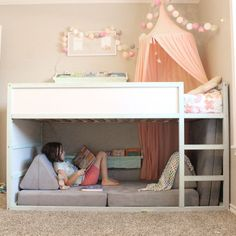 Babyzimmer Einrichten 30 Cozy Reading Room For Your Interior Home Design Though having extra space i Bed For Girls Room, Teen Girl Bedrooms, Big Girl Rooms, Boy Room, Ikea Girls Bedroom, Little Girl Beds, Baby Bedroom, Ikea Childrens Bedroom, Childrens Rooms