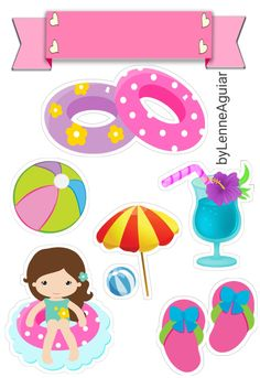 Bolos Pool Party, Luau Party, Scrapbook Layout Sketches, Scrapbooking Layouts, Diy Photo Booth Props, Quiet Book Templates, Paw Patrol Birthday, Candy Party, Baby Scrapbook