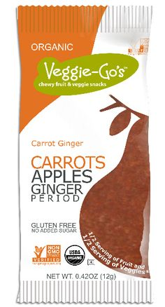 Carrot Ginger Veggie-Go's (5 Strips)