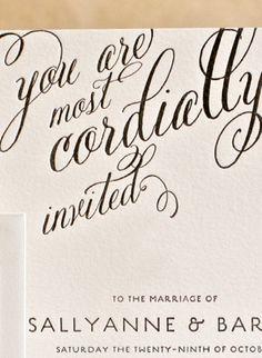 Beautiful font! Letterpress Wedding Invitations Melbourne Australia | Saint Gertrude Design & Letterpress