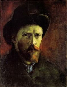 Self-Portrait with Dark Felt Hat - Vincent van Gogh
