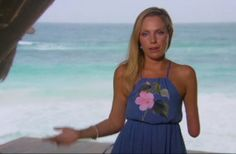 Bachelor in Paradise fashion: Sarah Heron's blue flower maxi dress
