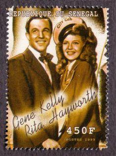 0179) SENEGAL 1999 Gene Kelly, Rita Hayworth Film Movie Actor 450F ...