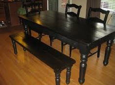 Résultats de recherche d'images pour «black dining room sets»