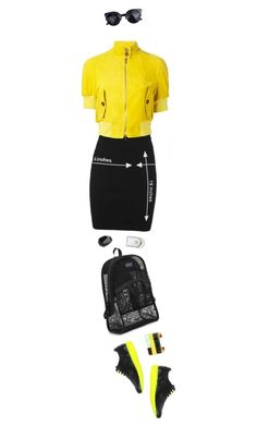 """Sporty"" by ladomna ❤ liked on Polyvore featuring moda, Moschino, RED Valentino, STELLA McCARTNEY, JanSport, Hermès e LeJu"
