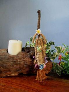 Ostara Spring Goddess Flora Altar Besom by PositivelyPagan on Etsy
