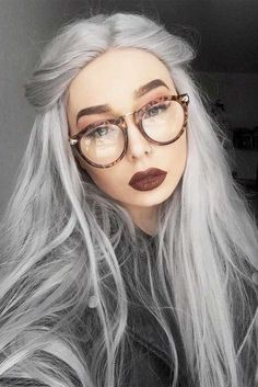 Stunning Silver Hair Looks to Rock ★ See more: http://glaminati.com/silver-hair/