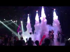 Led co2 jet in the nightclub