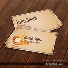 Fresh and Organic Bread Store Business Card
