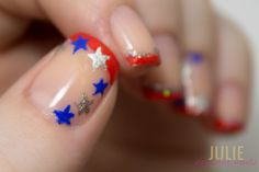 Fourth of July Nail French