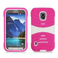 WEMO Wave Kickstand Samsung Galaxy S5 Active Case - Hot Pink/White