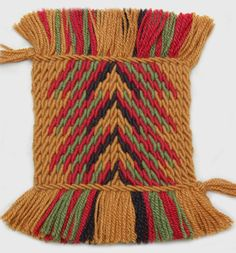 Ply-split mat 'Indian Magic' by Linda Hendrickson. Artist-made cords, made from wool. Tablet Weaving, Magic S, Threading, Cords, Wool Rug, Spinning, Diagram, Inspire, Artists