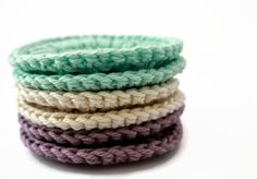 Crochet Face Scrubby Set of Six in Colors of by TheGreenDaisy