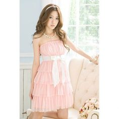 Cheap Wholesale Off-The-Shoulder Bow Tie Sleeveless Sweet Style Chiffon Women's Dress (PINK,ONE SIZE) At Price 7.02 - DressLily.com