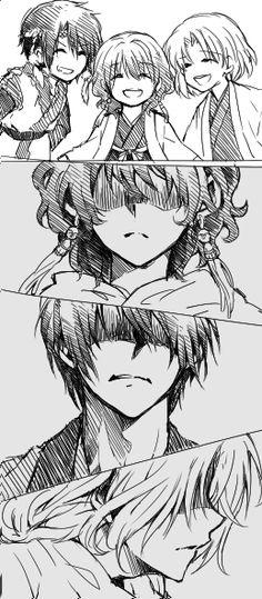 Akatsuki no Yona / Yona of the Dawn manga and anime || Hak, Yona, and Soowon ;-;