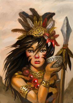 ornate aztec weapon - Google Search