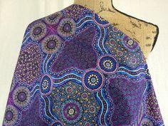Australian Aboriginal Print FabricWild Bush by MoreLoveMama