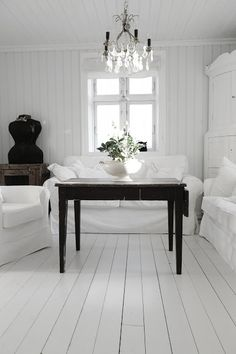 mixing dark and light in the home is the best for me...like wearing black and white