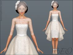 BEO makes some of my favorite wedding dresses for the Sims 3. They're absolutely stunning!