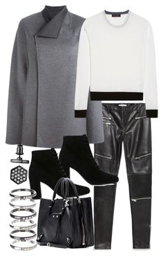 """""""Untitled #19060"""" by florencia95 ❤ liked on Polyvore featuring Zara, Joseph, Yves Saint Laurent, Calvin Klein Collection, Balenciaga, M.N.G and Simply Vera"""