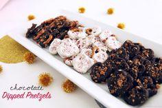 chocolate dipped pretzels #treats