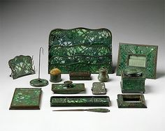 Designed by Louis Comfort Tiffany  (American, 1848–1933). Letter Rack, ca. 1910–20. Tiffany Studios (1902–32). American. The Metropolitan Museum of Art, New York. Gift of Mrs. H. S. Mesick, 1962 (62.233.13) #letters #Connections