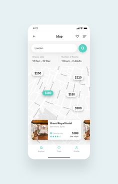 Roome Hotel Booking App UI Kit is a pack of delicate UI design screen templates that will help you to design clear interfaces for hotel booking app faster and easier. Compatible with Sketch App, Figma & Adobe XD App Ui Design, Mobile App Design, Ui Design Principles, Hotel Booking App, App Map, Iphone Texts, Event App, App Design Inspiration, Mobile App Ui